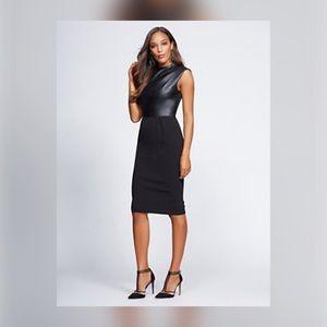 Gabrielle Union NY&Co. Faux Leather Sheath Dress